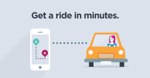 lyft get a ride in minutes